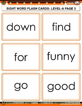 FREE Sight Word Unscramble Mind Games Level-A, 55 Words (For Advance Students)