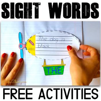 Free Sight Words Activities - Airships