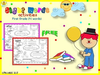 FREE Sight Words Activities - Carnival Edition {First Grade}