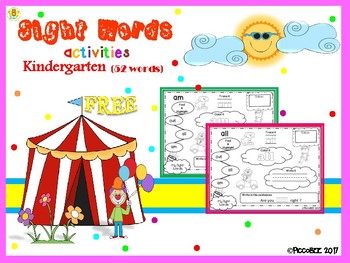 FREE Sight Words Activities - Carnival Edition {Kindergarten}