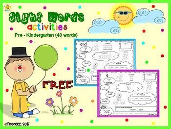 FREE Sight Words Activities - Carnival Edition {Pre-K}