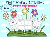 FREE Sight Words Activities for Pre-K (40 Words)