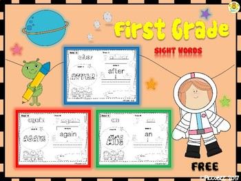FREE Sight Words - Astronauts Edition {First Grade}