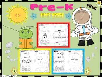 FREE Sight Words - Astronauts Edition {Pre-K}