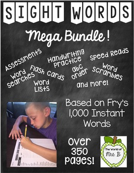 FREE Sight Words Bundle Frys 1,000 Instant Words - First hundred