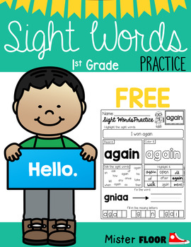 FREE Sight Words Practice (1st Grade)