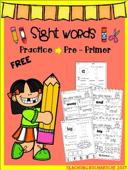 FREE Sight Words Practice (Pre-Primer)
