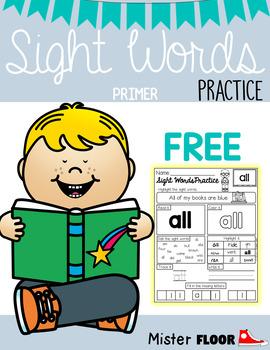 FREE Sight Words Practice (Primer)