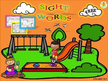 FREE Sight Words ~ Pre-K (Set 2)