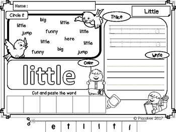 FREE Sight Words ~ Pre-K (Set 3)