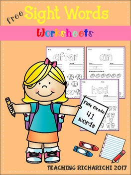 FREE Sight Words Worksheets (First Grade)