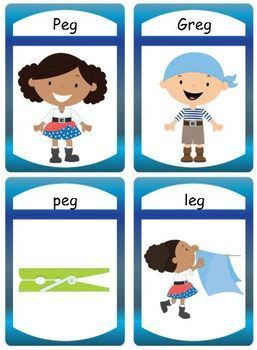 "FREE Silly CVC Story ""eg"" with Flashcards and Puzzles"