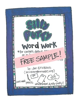 ***FREE*** Silly Putty Word Work SAMPLE