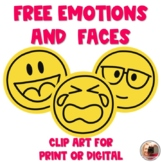 FREE Simple Faces and Emotions Clip Art | Digital or Print