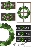 Simple Farmhouse Style Wreaths and Signs Clipart