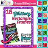 Rounded Rectangle Border Clip Art | Rainbow Glitter Frames for Worksheets 2