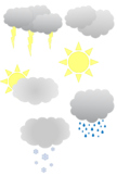FREE Simple Weather Clipart Set