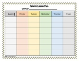 FREE Simple Weekly Lesson Plan