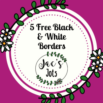 FREE Simple Worksheet Borders and Frames
