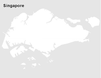 FREE - Singapore Map Outline
