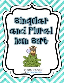 Singular and Plural Noun Sort