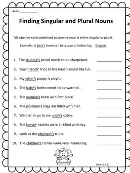 FREE:  Singular and Plural Nouns