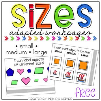 FREE Sizes Adapted Work Binder - Small, Medium, Large