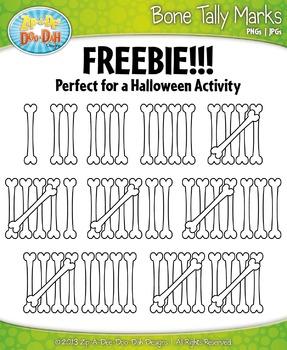 FREE Bone Tally Marks Clipart {Zip-A-Dee-Doo-Dah Designs}