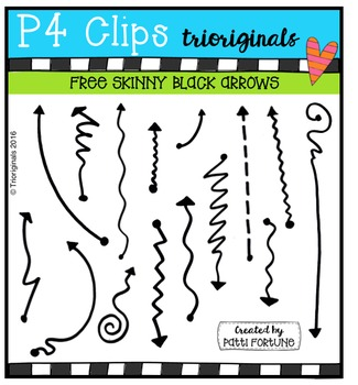 FREE  Skinny Black Doodle Arrows {P4 Clips Triorignals Dig
