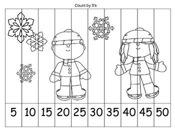 FREE Skip Counting Coloring Puzzle {WINTER}