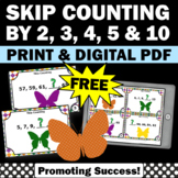 FREE Skip Counting by 2's Task Cards, Skip Counting Activities & Games 2nd Grade
