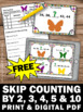 FREE Skip Counting Task Cards, 1st 2nd Grade Math Review Games