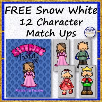 FREE Sleeping Beauty 12 Character Match Ups