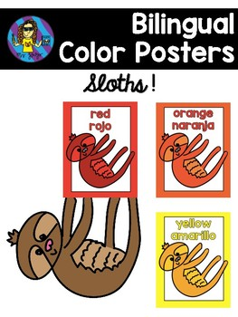 FREE Sloth Color Posters