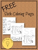 FREE Sloth Coloring Pages