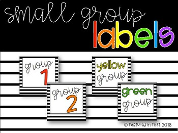 FREE Small Group Labels