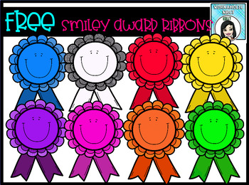 (FREE) Smiley Award Ribbons Clip Art