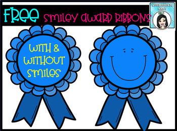 FREE Smiley Award Ribbons Clip Art