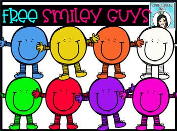 (FREE) Smiley Face Guys Clip Art Set