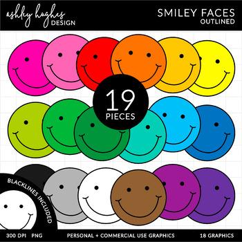 FREE Smiley Faces Clipart {A Hughes Design}