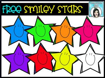 (FREE) Smiley Stars Clip Art Set