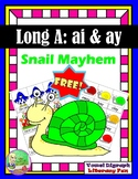 FREE Snail Mayhem ✿ (Vowel Teams ai & ay)