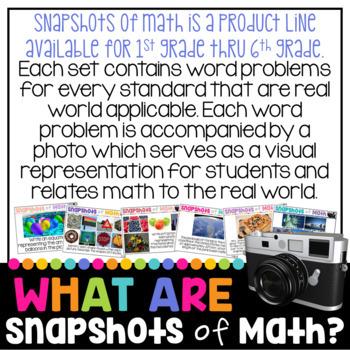 FREE Snapshots of Math Word Problems SAMPLER FREEBIE Using Photos in Math