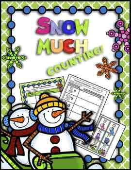 FREE  Snow Much Counting!  Card Game