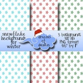 {FREE} Snowflake Backgrounds for Winter~ Dreams of Doodles