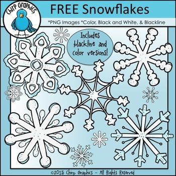 FREE Snowflakes Clip Art Set - Chirp Graphics