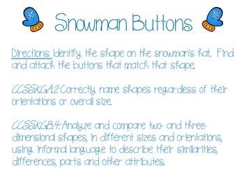 FREE! Snowman Buttons Bulletin Board Activity