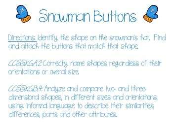 FREE! Snowman Buttons Bulletin Board Activity