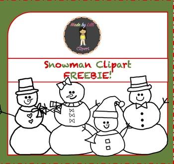 FREE Snowman Clipart / Snowmen Clipart / Winter / Christmas Clipart {FREEBIE}