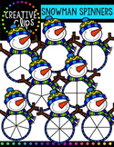 Snowman Clipart Spinners - Winter Clipart {Creative Clips Clipart}